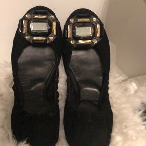 TORY BURCH SUEDE LEATHER FLATS. SZ 8.5